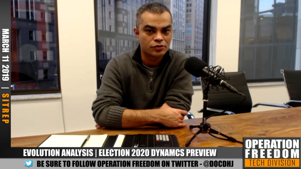 D.A.R. - Evo Research: Election 2020 Dynamics Preview / Prelim - March 2019